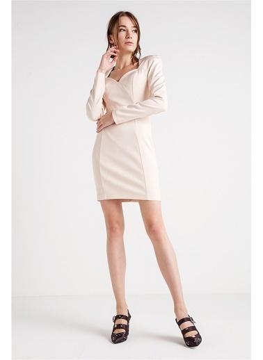Uzun Kollu Mini Elbise-Love'n Fashion Paris